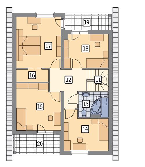 Rzut poddasza POW. 91,0 m²