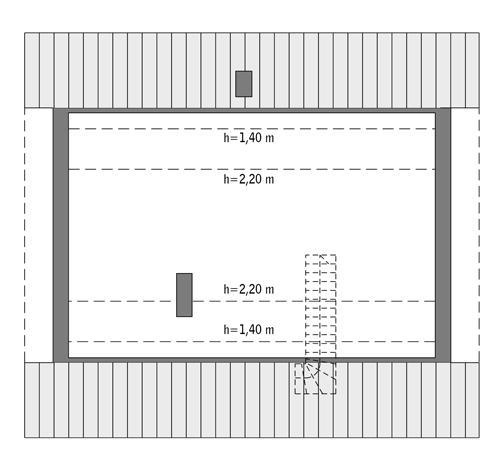 Rzut poddasza: Do indywidualnej adaptacji (48,3 m2 powierzchni użytkowej)