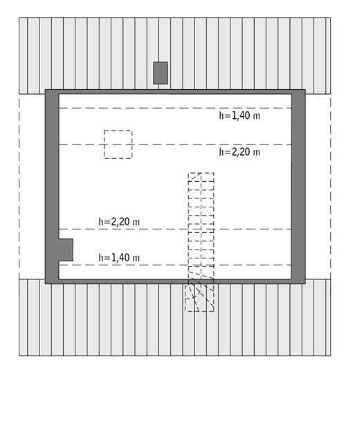 Rzut poddasza: Do indywidualnej adaptacji (26,2 m2 powierzchni użytkowej)