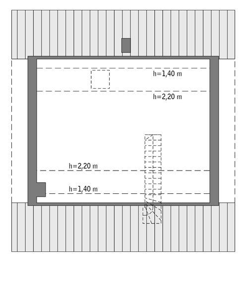 Rzut poddasza: Do indywidualnej adaptacji (41,2 m2 powierzchni użytkowej)