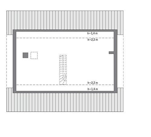 Rzut poddasza: Do indywidualnej adaptacji 96,5 m2 powierzchni użytkowej)