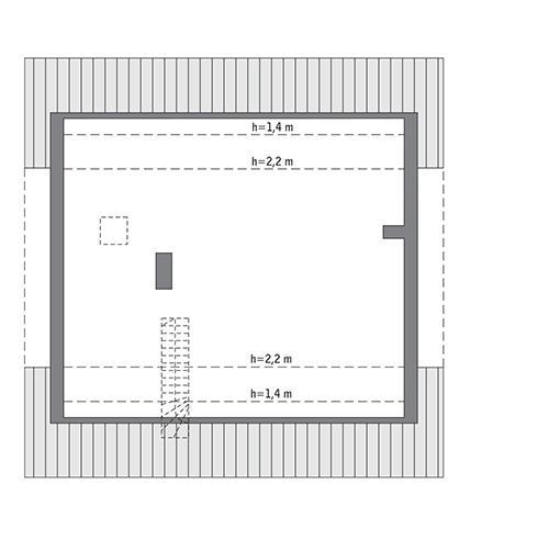 Rzut poddasza: do indywidualnej adaptacji 87,2 m2 powierzchni użytkowej)