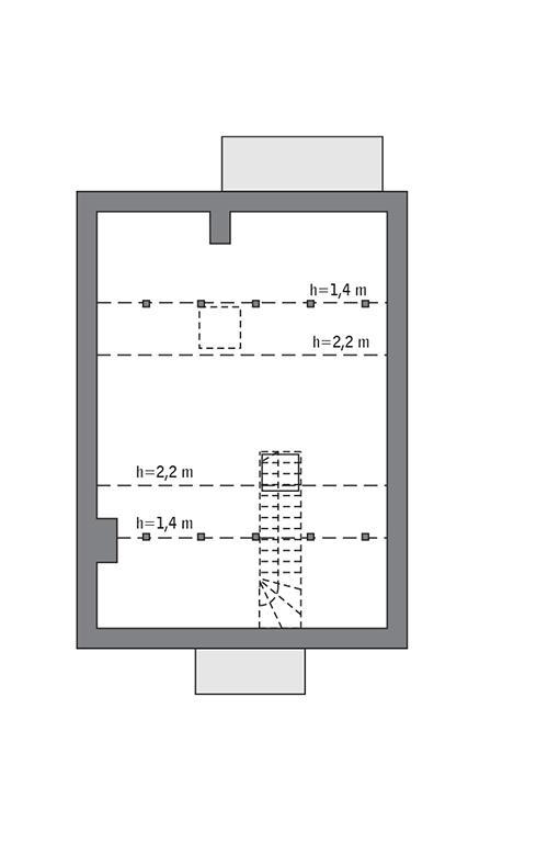 Rzut poddasza: do indywidualnej adaptacji (25,2 m2 powierzchni użytkowej)