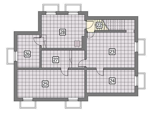 Rzut piwnicy POW. 111,8 m²