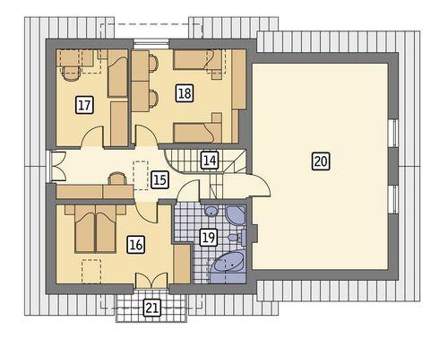 Rzut poddasza POW. 126,7 m²