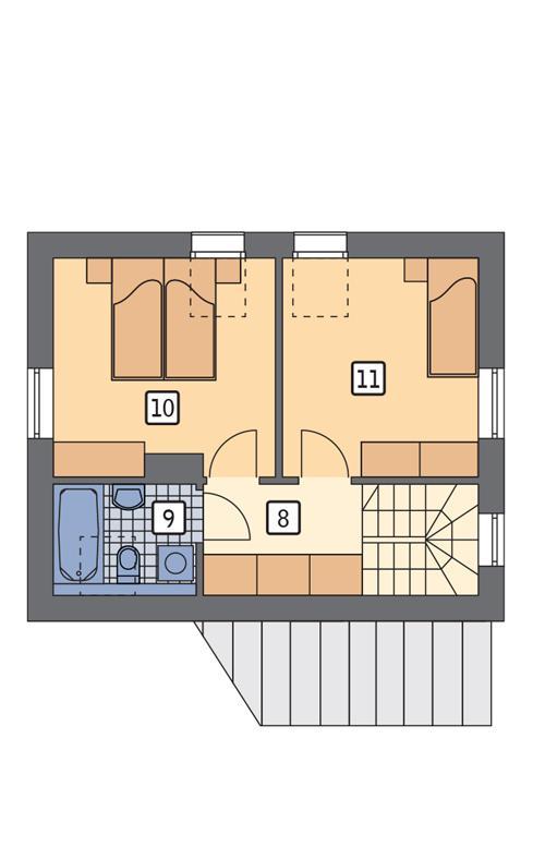 Rzut poddasza POW. 39,4 m²