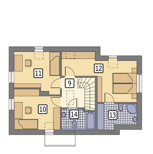 Rzut poddasza POW. 63,3 m²