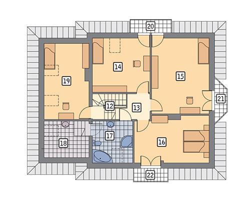 Rzut poddasza POW. 112,3 m²