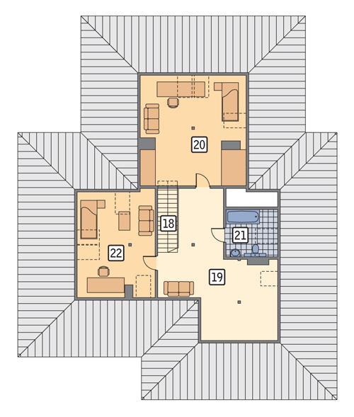 Rzut poddasza POW. 98,3 m²