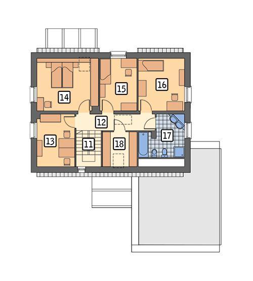 Rzut poddasza POW. 82,7 m²