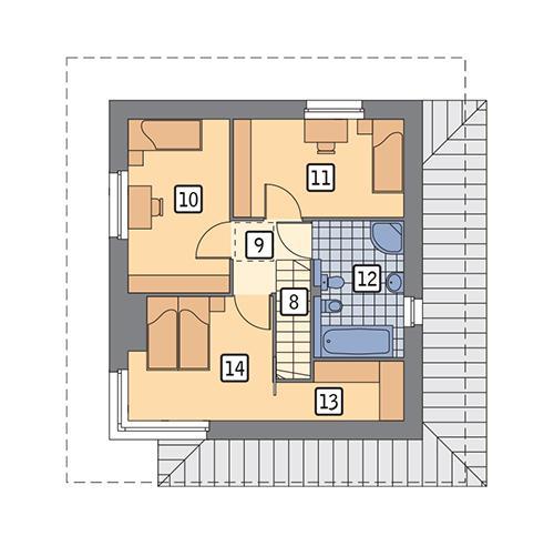 Rzut piętra POW. 43,0 m²