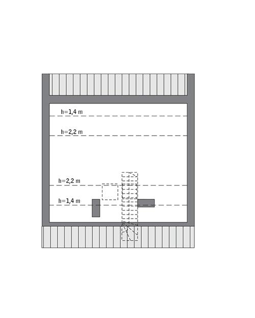 Rzut poddasza: Do indywidualnej adaptacji (29,8 m2 powierzchni użytkowej)