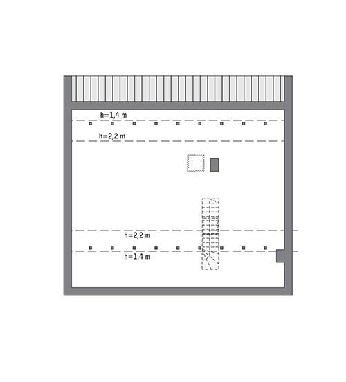 Rzut poddasza: Do indywidualnej adaptacji (68,1 m2 powierzchni użytkowej)