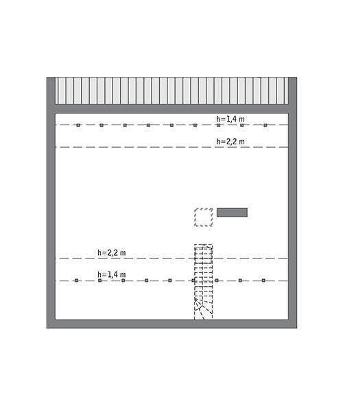 Rzut poddasza: Do indywidualnej adaptacji (80,0 m2 powierzchni użytkowej)