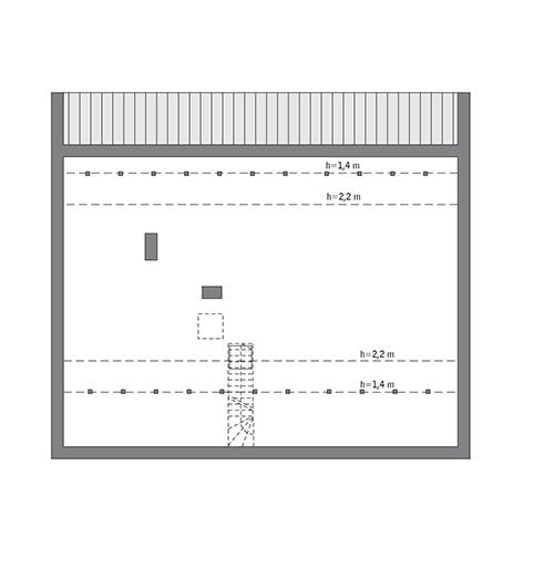 Rzut poddasza: Do indywidualnej adaptacji (97,1 m2 powierzchni użytkowej)