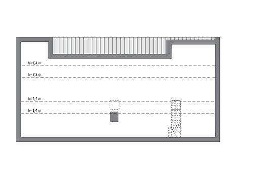 Rzut poddasza: Do indywidualnej adaptacji (66,5 m2 powierzchni użytkowej)