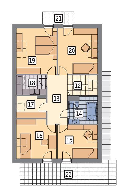 Rzut poddasza POW. 128,1 m²