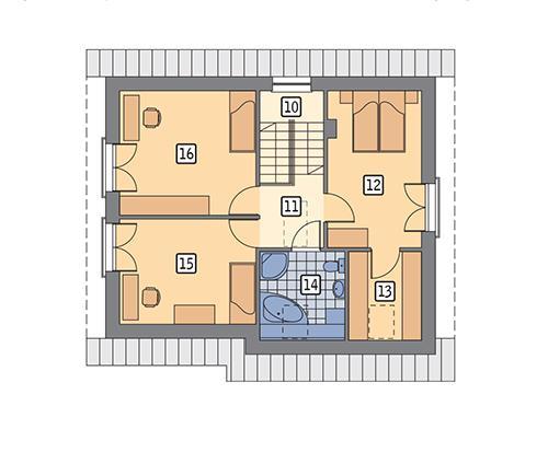 Rzut poddasza POW. 67,3 m²