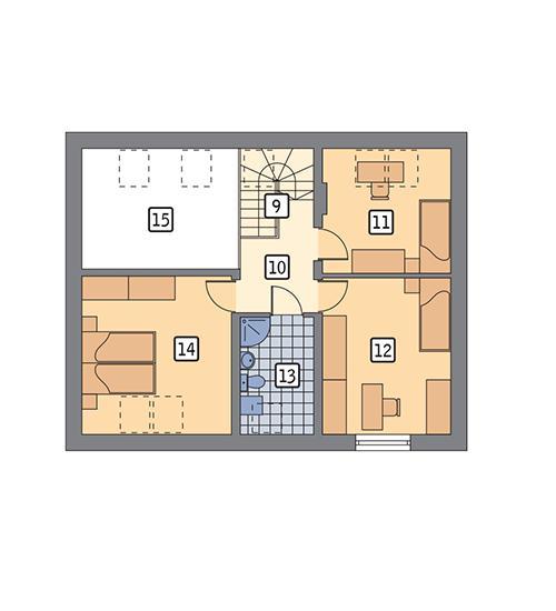 Rzut poddasza POW. 59,1 m²