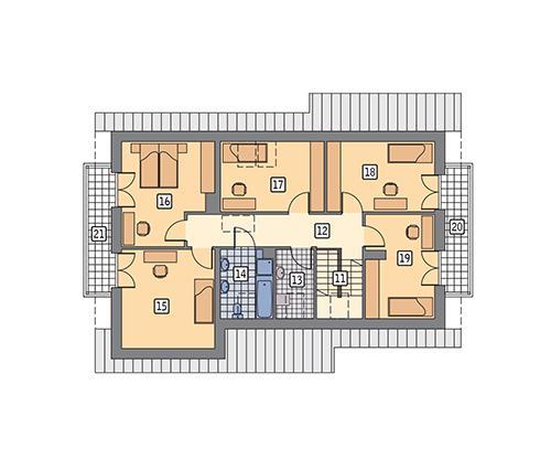 Rzut poddasza POW. 115,7 m²