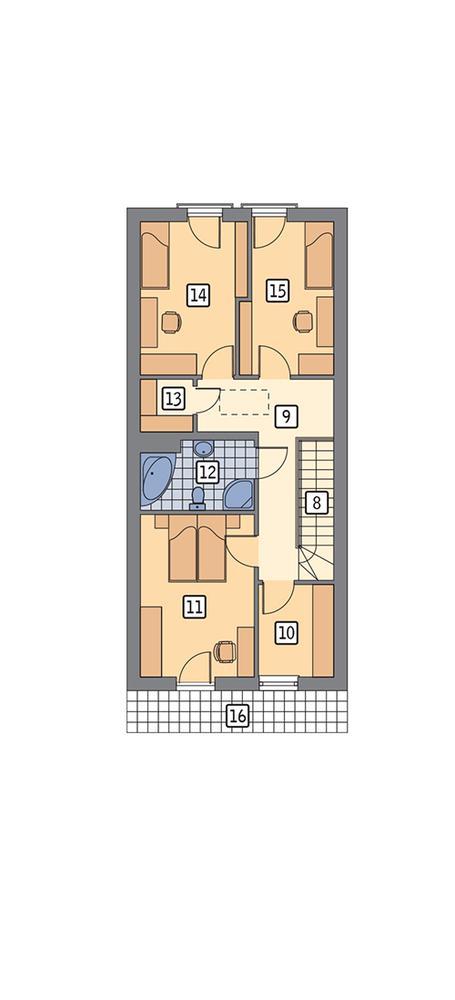 Rzut poddasza POW. 73,9 m²
