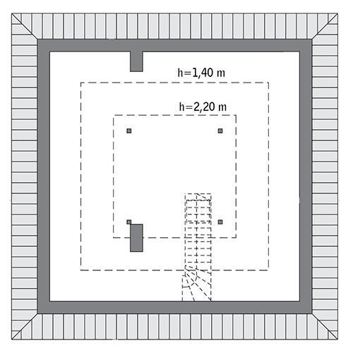 Rzut poddasza: Do indywidualnej adaptacji (27,3 m2 powierzchni użytkowej)