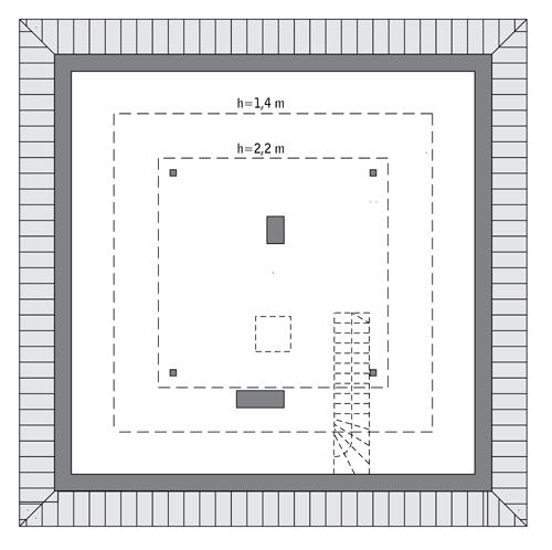 Rzut poddasza: Do indywidualnej adaptacji (48,8 m2 powierzchni użytkowej)