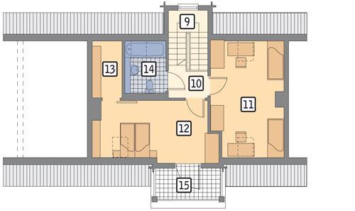 RZUT PODDASZA POW. 55,4 m²