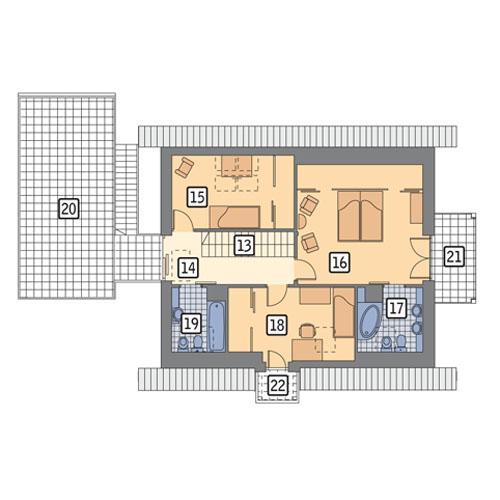 Rzut poddasza POW. 115,2 m²