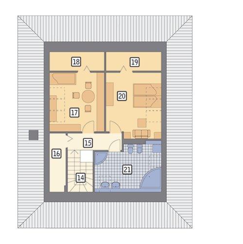 Rzut poddasza POW. 79,3 m²