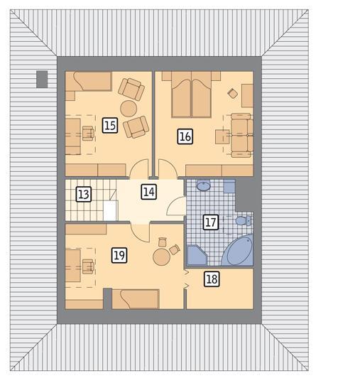 Rzut poddasza POW. 83,0 m²