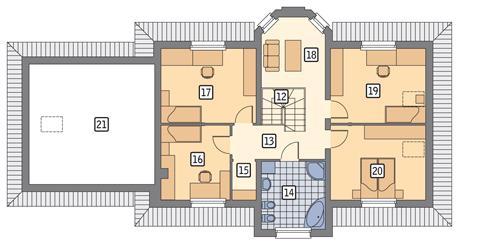 Rzut poddasza POW. 128,8 m²