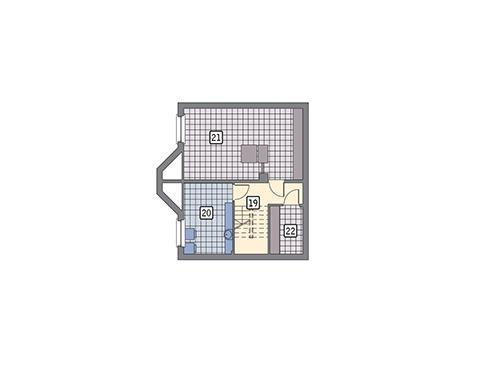 Rzut piwnicy POW. 52,3 m²