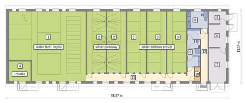 Rzut przyziemia POW. 441,8 m²