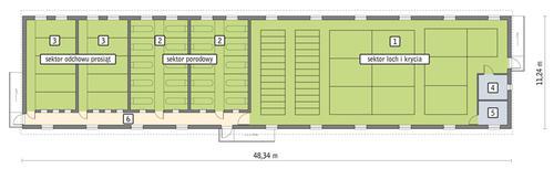 Rzut przyziemia POW. 483,6 m²