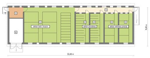 Rzut przyziemia POW. 251,0 m²