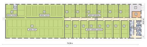 Rzut przyziemia POW. 1 305,9 m²
