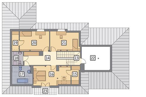 Rzut poddasza POW. 130,6 m²