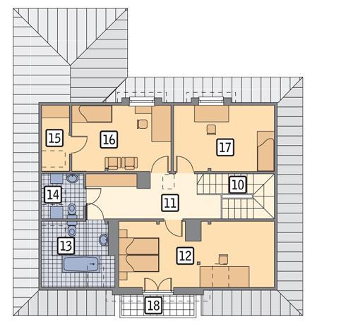 Rzut poddasza POW. 93,6 m²