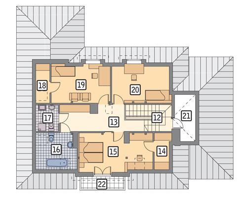 Rzut poddasza POW. 114,3 m²