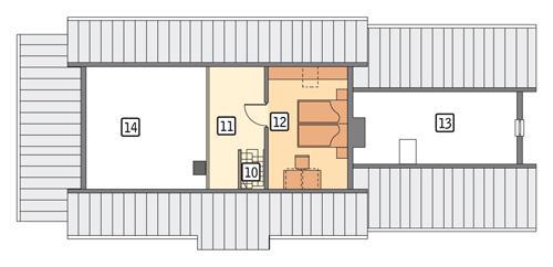 Rzut poddasza POW. 59,5 m²