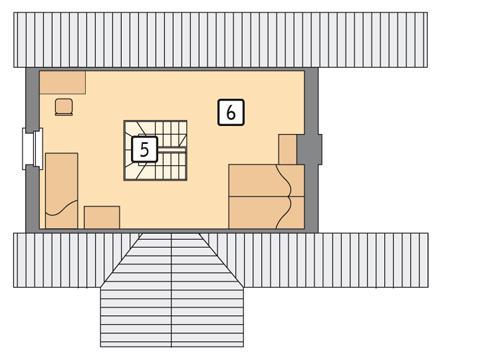 Rzut poddasza POW. 27,3 m²