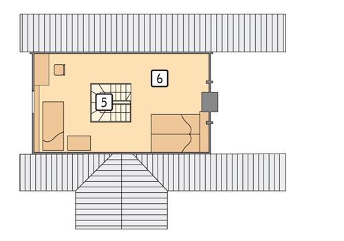Rzut poddasza POW. 28,1 m²