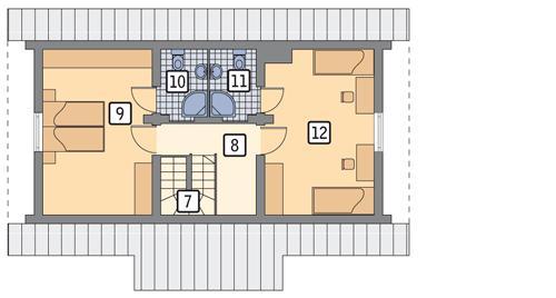 Rzut poddasza POW. 46,5 m²