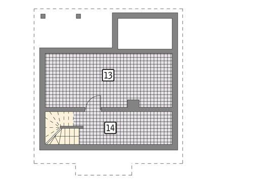 Rzut piwnicy POW. 32,7 m²