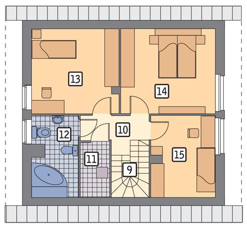 Rzut poddasza POW. 58,5 m²