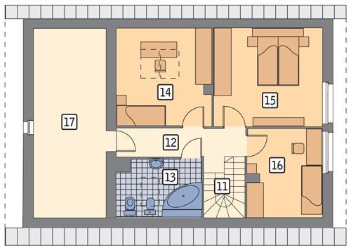 Rzut poddasza POW. 80,1 m²