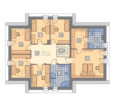 Rzut poddasza POW. 136,2 m²