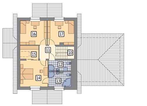 Rzut poddasza POW. 74,2 m²