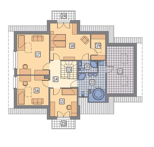 Rzut poddasza POW. 131,0 m²